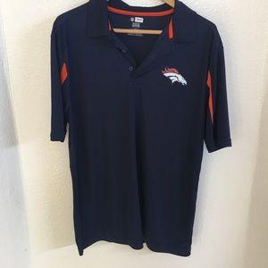 NFL Blue Denver Broncos Polo Shirt. Size L